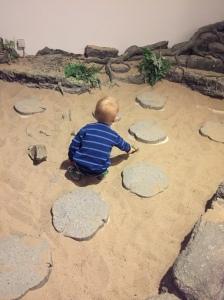 Beschäftigt mit Ausgrabungen